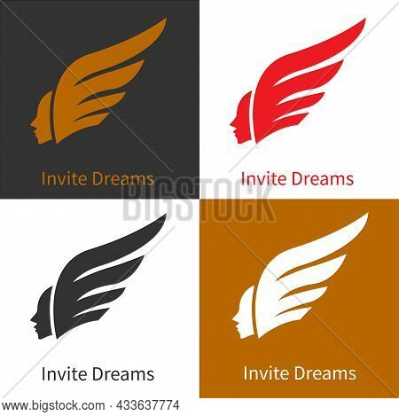 Eagle Wing Hair Man, Great For Animal Care Icon Logo, Reach For Dreams, Power Of Will, Travel, Desti