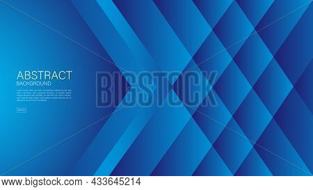 Blue Abstract Background, Arrow Lines, Geometric Vector, Graphic, Technology Digital Template, Cover