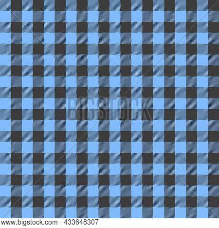 Blue And Grey Scotland Textile Seamless Pattern. Fabric Texture Check Tartan Plaid. Abstract Geometr