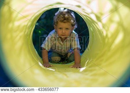 Beautiful Baby Boy With Child Face Posing Photographer