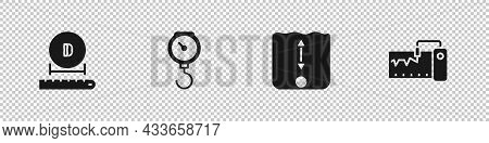 Set Diameter, Hand Scale Spring Mechanical, Depth Measurement And Measuring Instrument Icon. Vector