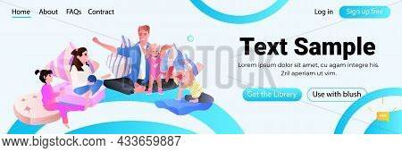 Young Father Playing With Little Children At Home Fatherhood Parenting Concept Dad Spending Time Wit