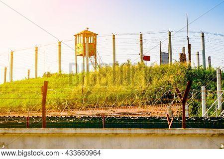 Observation Tower. Observation Deck At A Military Base.