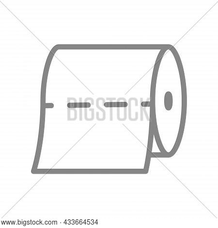 Roll Of Napkins In A Horizontal Position Line Icon. Paper Roll, Napkins, Tear-off Strip, Hygiene Pro