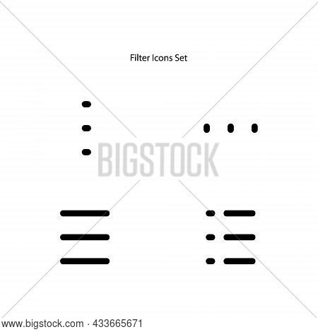 Filter Icons Set Isolated On White Background. Filter Icon Thin Line Outline Linear Filter Symbol Fo