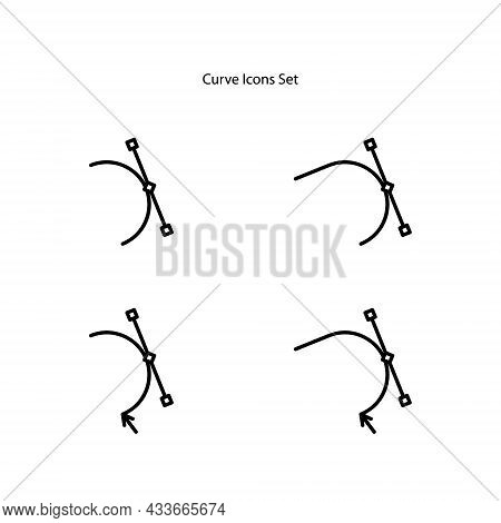 Curves Line . Set Vector Illustration Curves, Out Lines Graphics, Curved Directions Signs