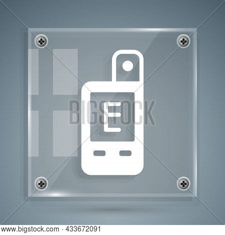 White Light Meter Icon Isolated On Grey Background. Hand Luxmeter. Exposure Meter - A Device For Mea