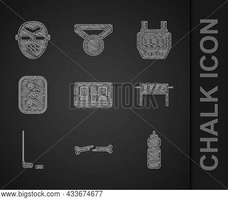 Set Hockey Mechanical Scoreboard, Human Broken Bone, Fitness Shaker, Table, Ice Hockey Stick And Puc