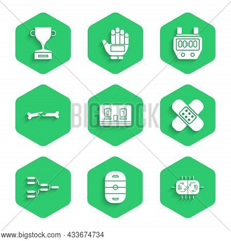Set Hockey Mechanical Scoreboard, Ice Hockey Rink, Table, Crossed Bandage Plaster, Championship Tour