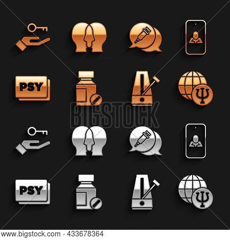 Set Sedative Pills, Psychologist Online, Psychology, Psi, Metronome With Pendulum, Addiction To The