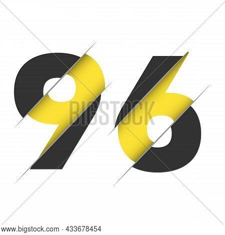 96 9 6 Number Logo Design With A Creative Cut. Creative Logo Design.