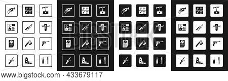 Set Buying Assault Rifle, Bayonet On, Advertising Weapon, Small Gun Revolver, Knife Holster, Weapon