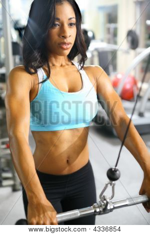 African American Fitness mulher