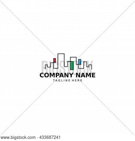 Real Estate Logo Design Concep Building Illustration. Property Logo Vector For Construction, Contrac