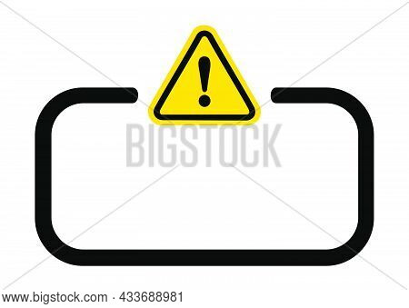 Rectangle Informational Notice Pictogram Attention. Vector Graphic Resource