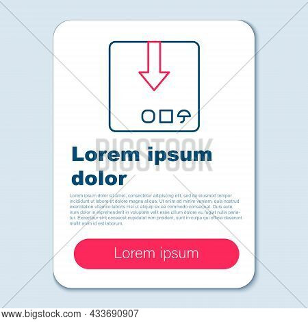 Line Carton Cardboard Box Icon Isolated On Grey Background. Box, Package, Parcel Sign. Delivery And