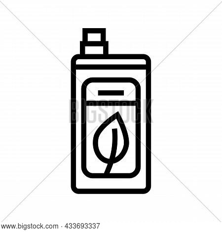 Eco Friendly Detergent Line Icon Vector. Eco Friendly Detergent Sign. Isolated Contour Symbol Black