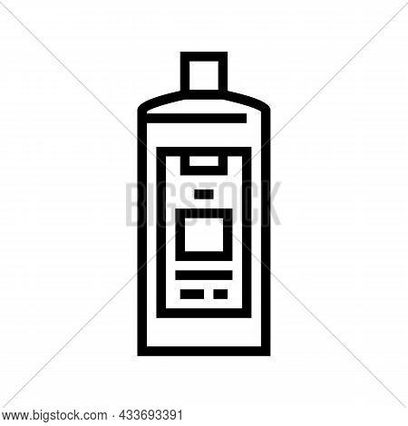 Color Safe Detergent Line Icon Vector. Color Safe Detergent Sign. Isolated Contour Symbol Black Illu