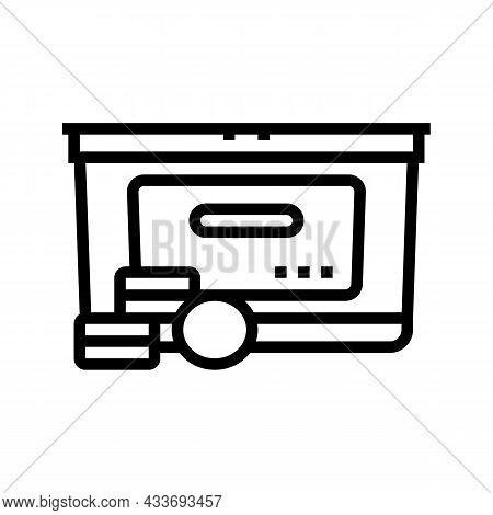 Pills Detergent Line Icon Vector. Pills Detergent Sign. Isolated Contour Symbol Black Illustration