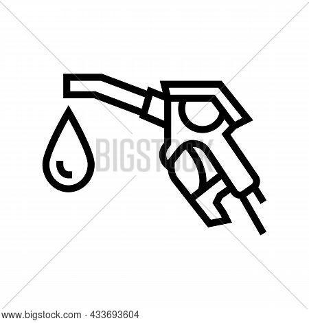 Hydrogen Gas Station Line Icon Vector. Hydrogen Gas Station Sign. Isolated Contour Symbol Black Illu