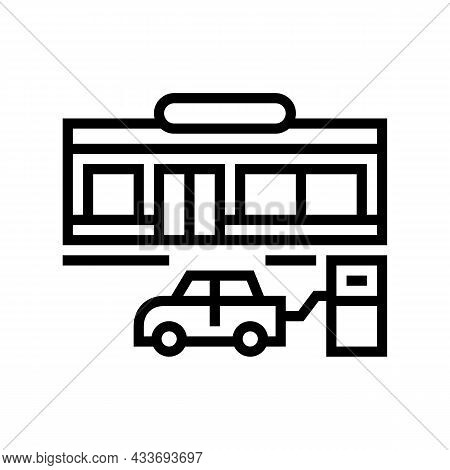 Wheel Inflation Line Icon Vector. Wheel Inflation Sign. Isolated Contour Symbol Black Illustration