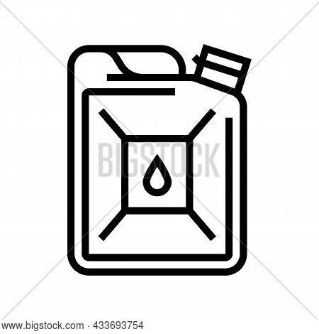 Bio-diesel Gas Station Line Icon Vector. Bio-diesel Gas Station Sign. Isolated Contour Symbol Black