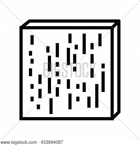 Compreg Timbers Line Icon Vector. Compreg Timbers Sign. Isolated Contour Symbol Black Illustration