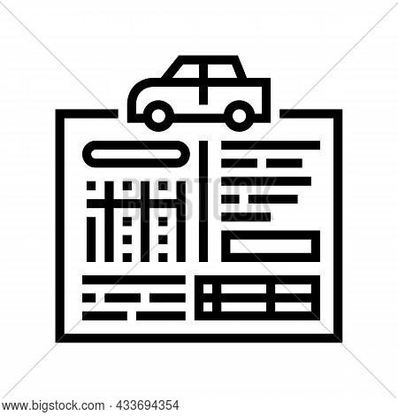 Car Service History Line Icon Vector. Car Service History Sign. Isolated Contour Symbol Black Illust