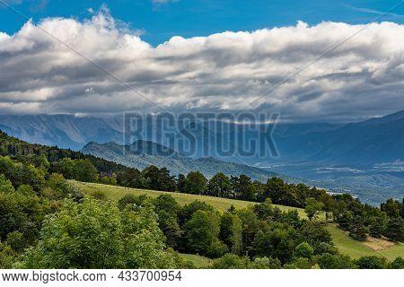 Landscape View At Monestier De Clermont Near Annecy In Haute-savoie In The Auvergne-rhone-alpes Regi