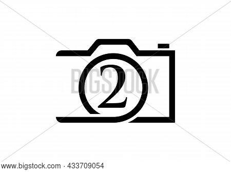 Photography Logo Design On Letter 2. Letter 2 Photography Logo Design. Camera Logo Design Inspiratio