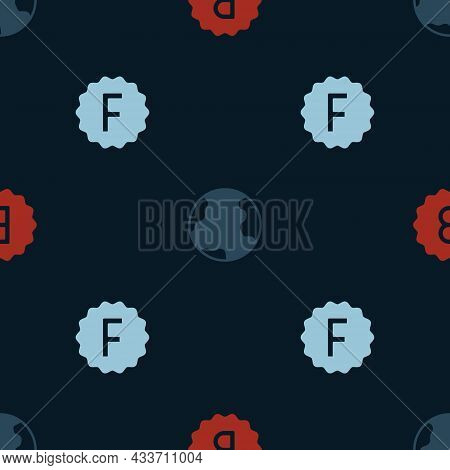 Set Exam Paper With Incorrect Answers, Earth Globe And On Seamless Pattern. Vector