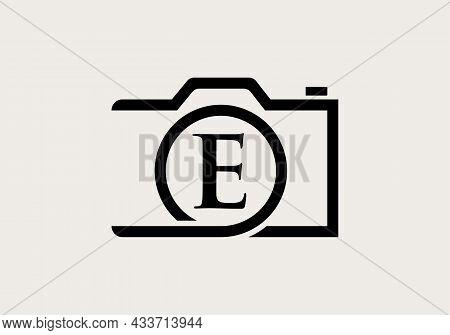 Photography Logo Design On Letter E. Letter E Photography Logo Design. Camera Logo Design Inspiratio
