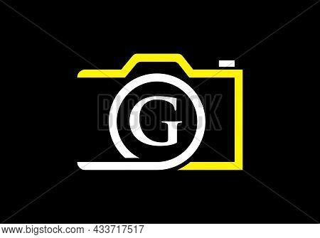 Photography Logo Design On Letter G. Letter G Photography Logo Design. Camera Logo Design Inspiratio
