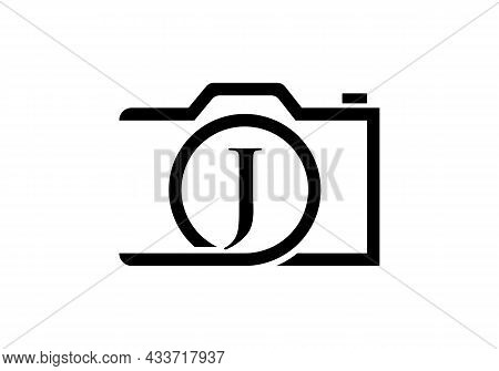 Photography Logo Design On Letter J. Letter J Photography Logo Design. Camera Logo Design Inspiratio