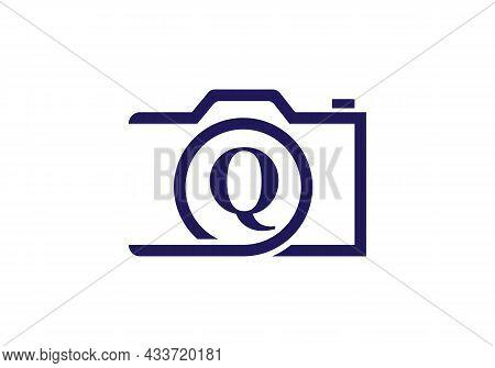 Photography Logo Design On Letter Q. Letter Q Photography Logo Design. Camera Logo Design Inspiratio