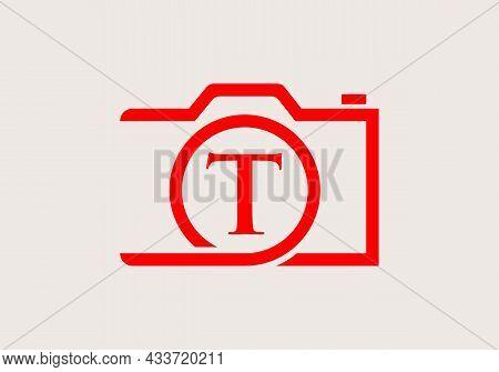 Photography Logo Design On Letter T. Letter T Photography Logo Design. Camera Logo Design Inspiratio