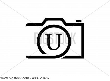 Photography Logo Design On Letter U. Letter U Photography Logo Design. Camera Logo Design Inspiratio