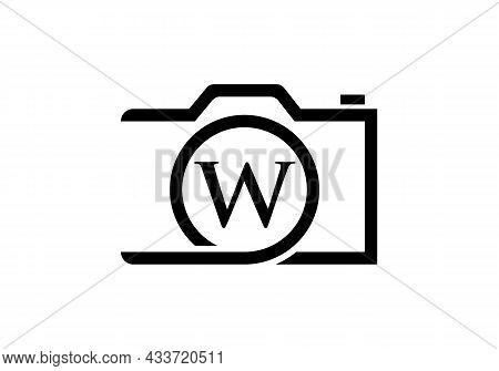 Photography Logo Design On Letter W. Letter W Photography Logo Design. Camera Logo Design Inspiratio