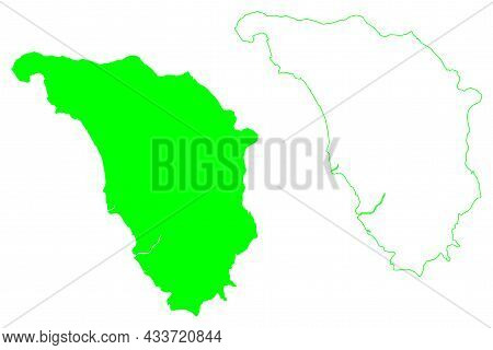 Mindoro Island (southeast Asia, Republic Of The Philippines) Map Vector Illustration, Scribble Sketc