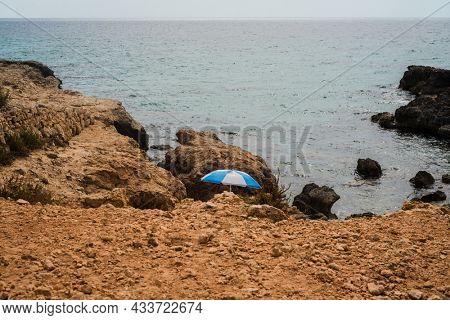 Beautiful rough coastline on the northern coastline of Minorca, Balearic Islands, Spain
