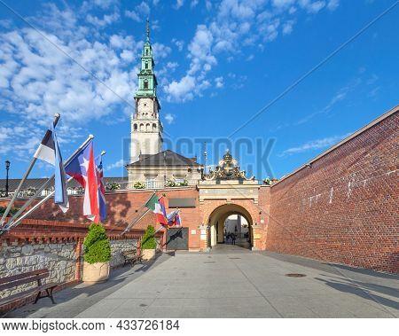 Brama Klasztorna Gate Of  Jasna Gora Monastery In Czestochowa, Poland