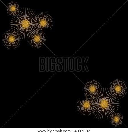 Golden Twinkle Black Background