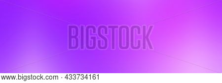Smooth Gradient Background With Purple Colors, Banner Format