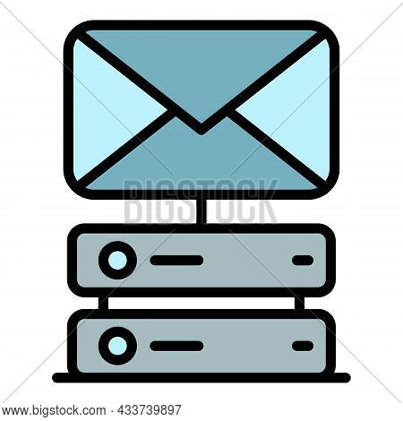 Message From Hosting Icon. Outline Message From Hosting Vector Icon Color Flat Isolated