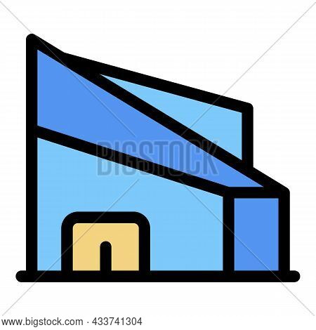 Mall Icon. Outline Mall Vector Icon Color Flat Isolated