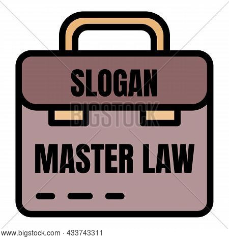 Master Law Icon. Outline Master Law Vector Icon Color Flat Isolated