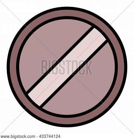 Round Head Bolt Icon. Outline Round Head Bolt Vector Icon Color Flat Isolated