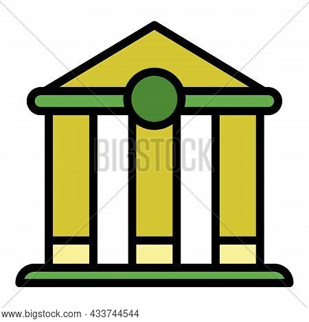 Mortgage Bank Icon. Outline Mortgage Bank Vector Icon Color Flat Isolated