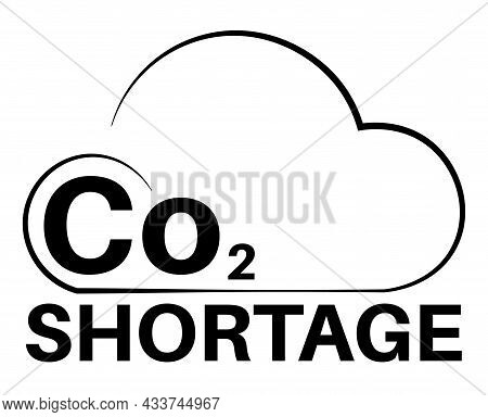 Co2 Gas Shortage Vector Illustration On A White Background