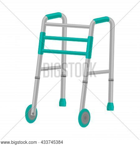 Metal Walkers With Wheels, For The Elderly. Orthopedic Walkers For The Elderly And People With Sick